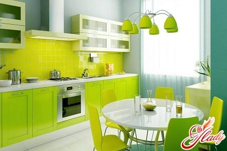поєднання зеленого кольору в інтер'єрі