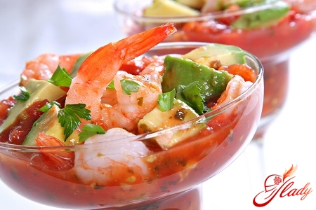 sauce for salad with shrimps