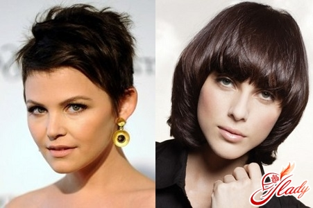 haircut for round face with bangs