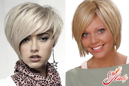 hairstyles for a round face with a bangs