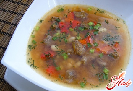 appetizing lamb soup