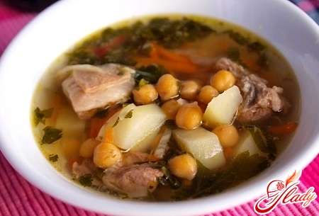 soup with mutton and chickpeas