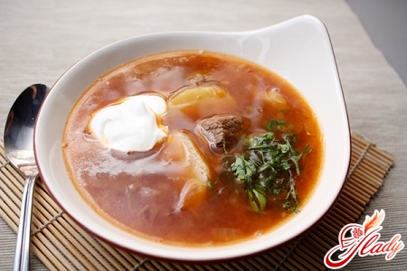 soup of beef with beef