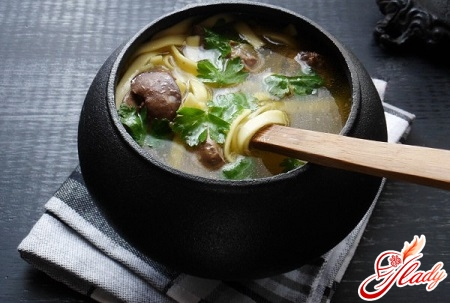 different recipes of chicken soup