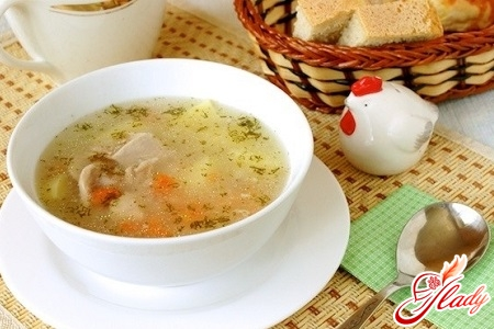 a recipe for soup with rice and chicken