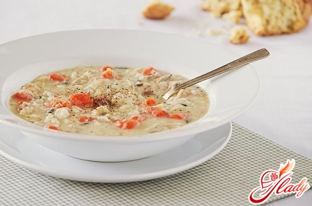 cooking recipe for chicken soup with rice