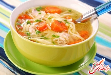 different recipes of chicken soup with vermicelli