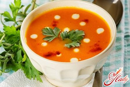 carrot soup puree