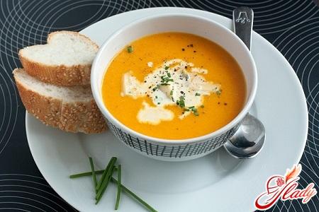 delicious pumpkin soup puree