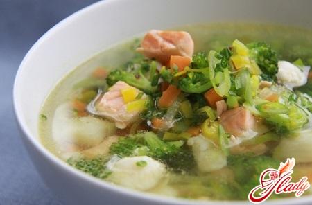 vegetable fish soup