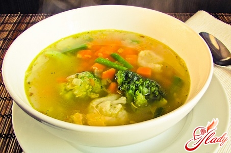 delicious soup with cauliflower