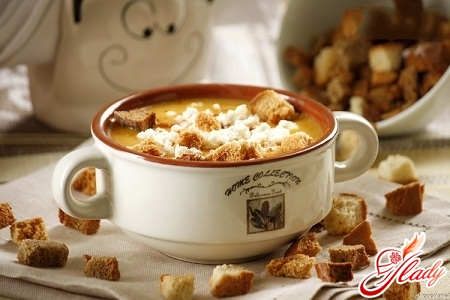 Pumpkin puree soup