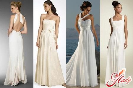 wedding dresses in Greek style
