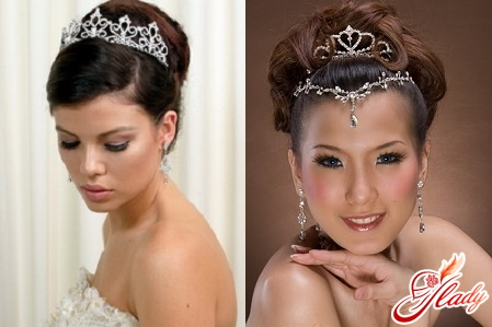 wedding hairstyle with a tiara