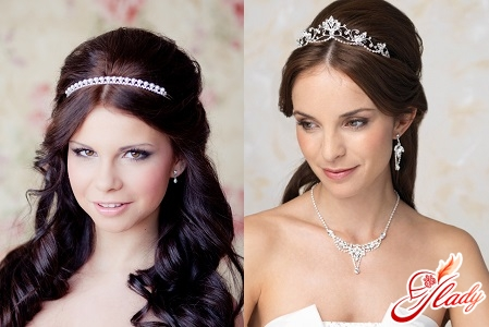 wedding hairstyles with a diadem