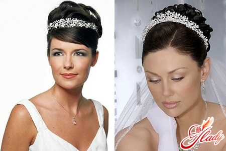 wedding hairstyles for long hair with a diadem