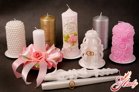 wedding candles with their own hands