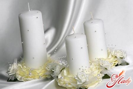 красиві весільні свічки своїми руками