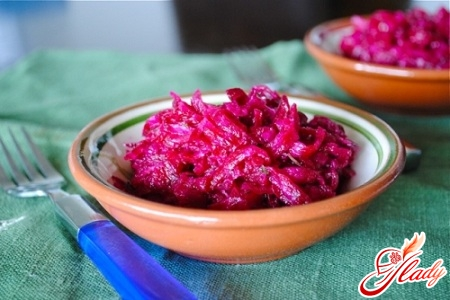 Useful beetroot with garlic and mayonnaise
