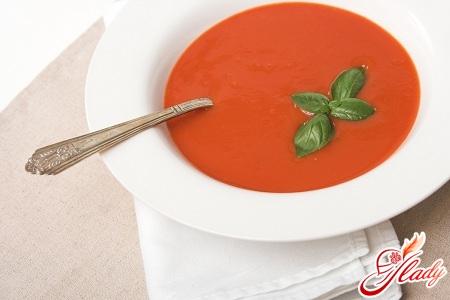 суп пюре з томатів