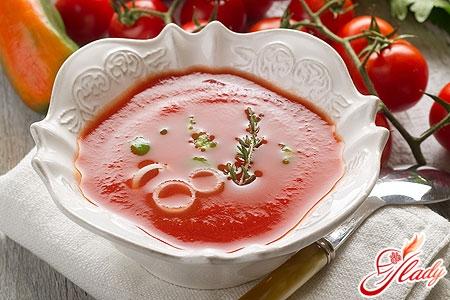 суп пюре томатний