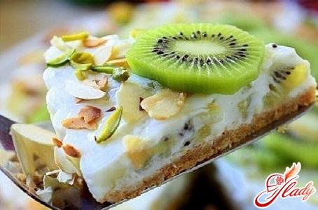 cake marbled tortoise with kiwi