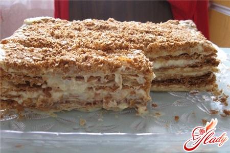 delicious cookie cake with condensed milk