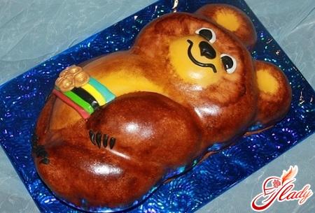 торт олімпійський ведмедик