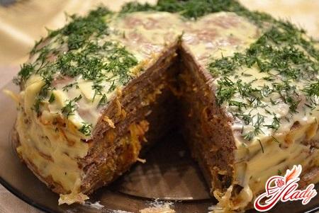 chicken liver cake