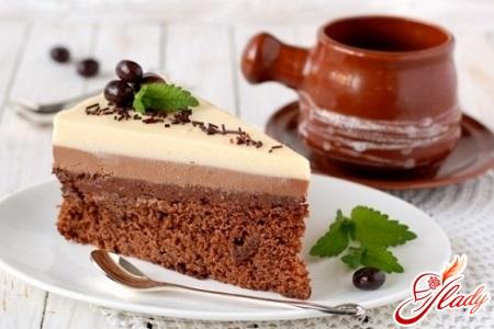 торт три шоколаду