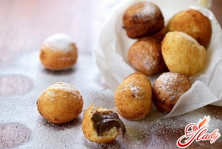 cheese donuts with chocolate filling