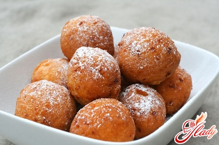 curd donuts with dried apricots