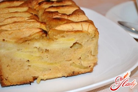 cottage cheese apple pie