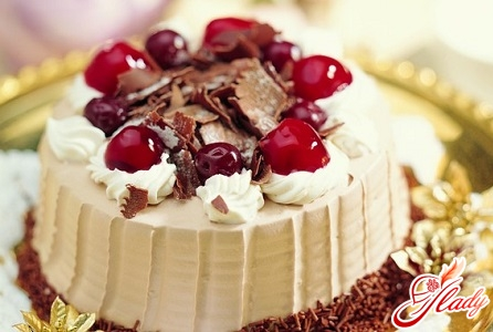 curd cake with cherry