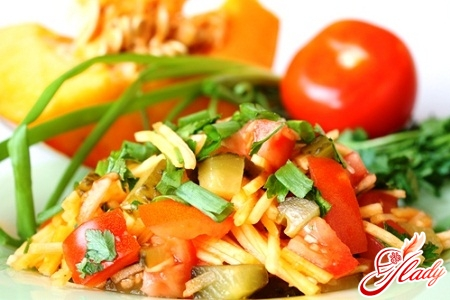 рецепти салат з гарбуза