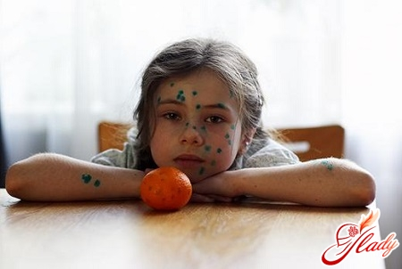 treatment of a rash in a child