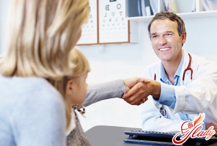on examination at the pediatrician