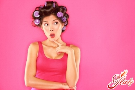 hair styling on hair curlers