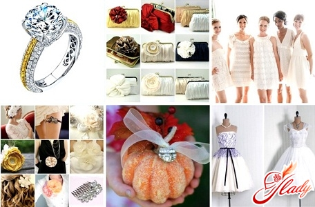 Selection of wedding ornaments