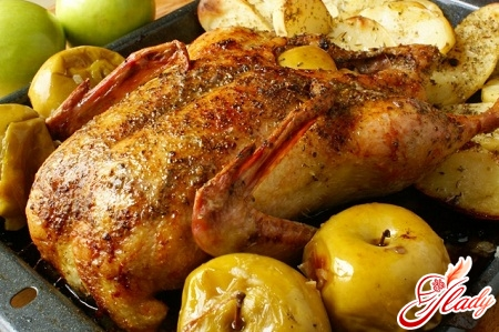recipe duck with apples