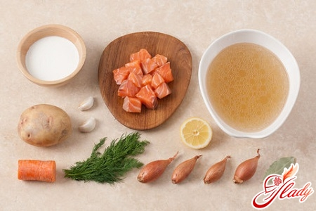 Ingredients for soup in Finnish