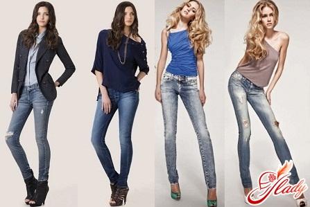 fashionable narrow jeans autumn winter 2016/2017