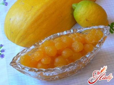 jam from a pumpkin with lemon and orange