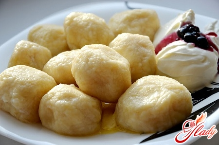 recipe of dumplings with cottage cheese