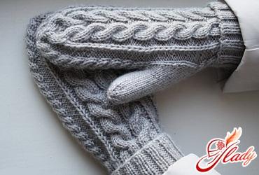 knitting mittens knitting needles patterns
