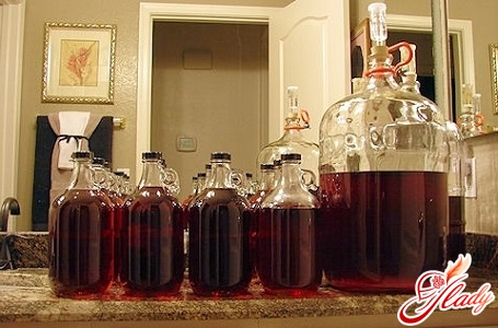 delicious homemade wine from jam