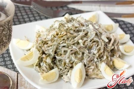 salad with sea kale