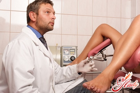 on examination with a doctor