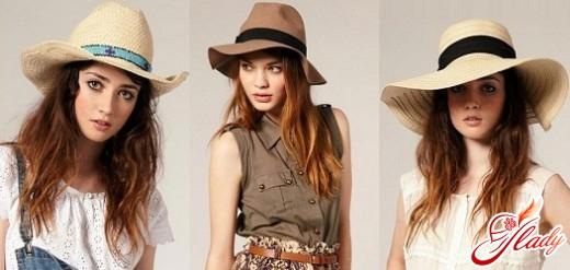 summer hat with wide brim