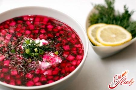 quick recipe for cold borsch